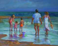 Paintings By Elizabeth Blaylock, American Impressionist  -  She did a beautiful piece of art of your family, Monica.  Love it!