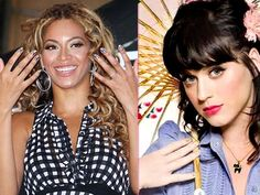 Beyonce and Katy Perry have sparkly nails #nailart