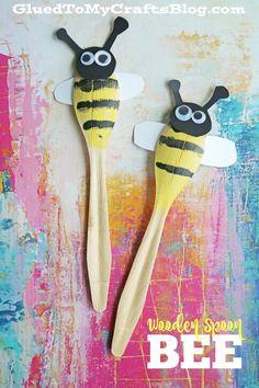 Cuchara de madera de la abeja - Kid Craft