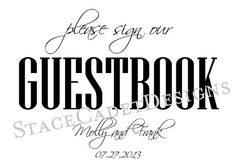 Love this guestbook sign with the fonts! The script is so cute!!