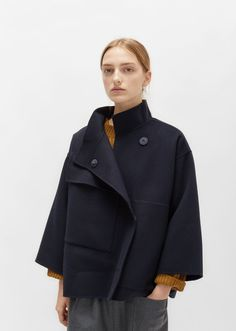 Double Faced Wool Cashmere Jacket by Sofie D'Hoore- La Garçonne Textiles, Classic Outfits, Cool Outfits, Concept Clothing, Cool Coats, Cashmere Jacket, Knitted Coat, Winter Fashion Outfits, Outerwear Jackets