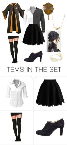 """Hufflepuff Head Girl"" by reveur767 on Polyvore featuring art"