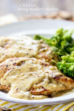 Creamy Honey Mustard Chicken - A delicious 30 minute meal that has a tangy, bold and sweet sauce on top!