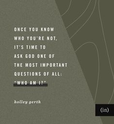"""Once you know who you're not, it's time to ask God one of the most important questions of all: """"Who am I?"""" No Matter What Happens, God First, All You Can, Words Of Encouragement, Bible Scriptures, Anxious, Introvert, Stress, Inspirational Quotes"""