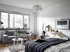 Studio Apartment Decoration & Design Ideas with The Advantages - Studio apartment, Photography by Janne Olander for Stadshem