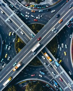 """The Best 50 Drone Photos of the Year – """"Highways were nice and paved, and they had signs telling you which way to go."""" -The Inexplicable Logic of my Life by Benjamin Alire Sáenz City Photography, Aerial Photography, Nature Photography, Concept Photography, Cityscape Photography, Art Science Fiction, Ouvrages D'art, Aerial Drone, Birds Eye View"""