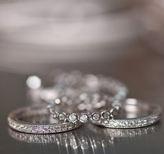 Wear a stack of eternity bands or their own or together. >>Click on the Eternity Wedding Bands to see more styles from Ross-Simons.