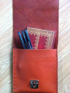 Burnt orange slimline pencil case brush case £16.49