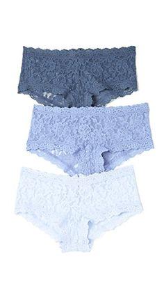 0f030c7e8c4 Hanky Panky 3 Pack Signature Lace Something Blue Boy Shorts