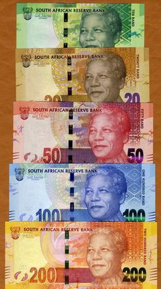 South African rand (currency) featuring Nelson Mandela