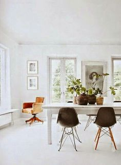 eames dining chairs