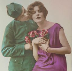1920's French Postcard - Romantic Couple by ChicEtChoc on Etsy