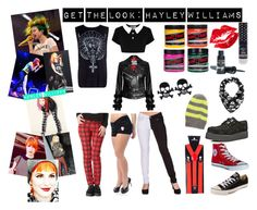 """Get the Look: Hayley Williams"" by bluebanana ❤ liked on Polyvore featuring moda, Manic Panic, Converse, Kill Star, Barry M, women's clothing, women's fashion, women, female e woman"