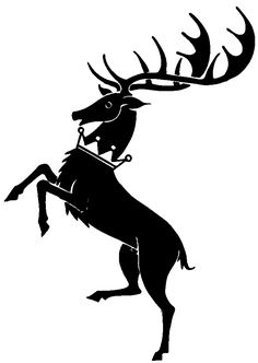 Game of Thrones House Baratheon Sigil stencil template