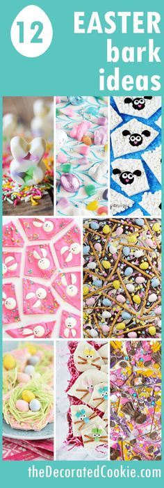 A roundup Easter chocolate bark ideas, easy, fun food ideas for Easter. A roundup of 12 Easter chocolate bark ideas, easy, fun food ideas for Easter. Delicious Easter party treat ideas with pastels. Easter Candy, Easter Treats, Easter Food, Easter Dishes, Easter Stuff, Easter Cookies, Chocolate Bark, Easter Chocolate, Chocolate Bowls