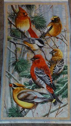 Tissu de coton, couette en tissu, décoration d'intérieur, collecte d'hiver, Wilmington estampes, par le panneau, Tenture murale, envoi…