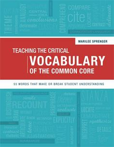 ASCD author Marilee Sprenger provides fun, memorable strategies for making these words stick in students' minds.