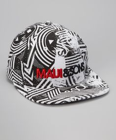 Look at this Maui and Sons Black Twister Flexfit Baseball Cap on #zulily today!