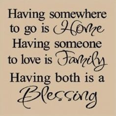 Home Family blessing Quote