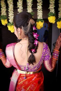 5 Fantastic Indian Wedding Hairstyles To Look You Cool - . - 5 Fantastic Indian Wedding Hairstyles To Look You Cool – - South Indian Wedding Hairstyles, Bridal Hairstyle Indian Wedding, Bridal Hair Buns, Bridal Hairdo, Wedding Hairstyles For Long Hair, Saree Hairstyles, Bride Hairstyles, Vintage Hairstyles, Indian Hairstyles For Saree