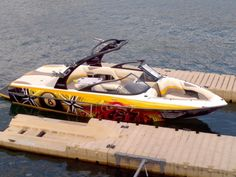 My 2009 23 ft Malibu VSL Wake Boarding boat. Custom Tattoo graphics and wet sounds speakers