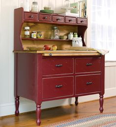 Baking Cabinet with Painted Finish- so not my style, but something about this attracts me- imagining more baking perhaps?