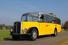▐ Saurer BUS •2♥• Post Bus, New Bus, Bus Coach, Busses, Vintage Trucks, Transportation, Automobile, Around The Worlds, Tours