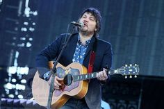 Jeff Tweedy of Wilco at Bonnaroo 2013 with his Gibson SJ200.