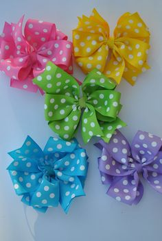 SPRINGTIME Necklace and Bow Set by TheJellyBeanJunction on Etsy