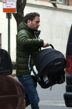Chris O'Neil with his newborn daughter Princess Leonore are Seen In New York City, 27.02.14