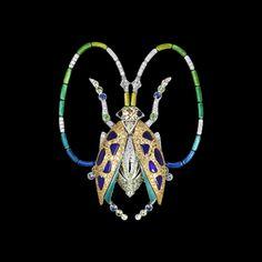 Los Escarabajos de Lorenz Bäumer, realizados con piedras preciosas y laca