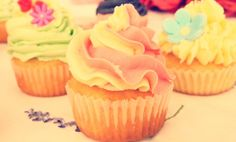 Pretty pastel cupcake collection www.designerscupcakes.com Pastel Cupcakes, Cupcake Collection, Pretty Pastel, Desserts, Food, Deserts, Dessert, Meals, Yemek