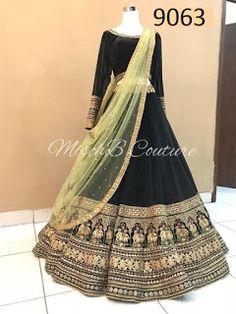 Indian Lehenga Choli Wedding Bridal Party Wear Dress Ethnic New Bollywood Lehenga Choli Designs, Lehenga Choli Wedding, Party Wear Lehenga, Indian Bridal Outfits, Indian Designer Outfits, Indian Dresses, Indian Clothes, Indian Lehenga, Black Lehenga