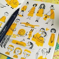 Teeny tiny doodles.
