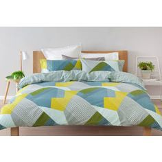 Reversible Stanley Quilt Cover Set - Single Bed