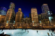 Ice skating in the big city!
