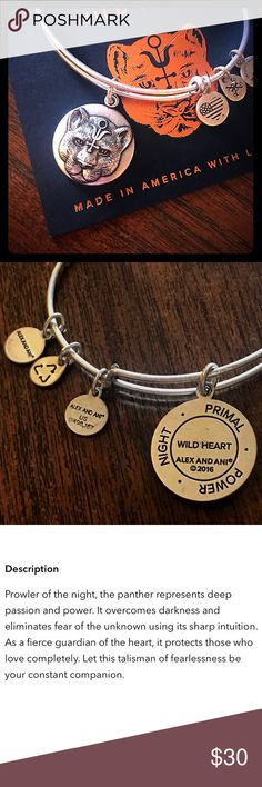 Alex and Ani Wild Heart Charm Bangle Alex and Ani Wild Heart Charm Bangle NEW Item ships with card (unattached). Alex & Ani Jewelry Bracelets