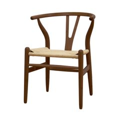 Baxton Studio Wishbone Chair - Dark Brown Wood Y Chair - Accent Chairs at Hayneedle Like chair for dining room table