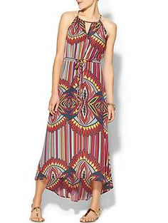 Collective Concepts Floral Maxi Side Tie Dress | Piperlime