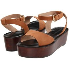 Pour La Victoire Ciara (Whiskey Nubuck) Women's Shoes ($140) ❤ liked on Polyvore featuring shoes, sandals, brown, brown sandals, open toe sandals, open toe platform sandals, platform wedge sandals and pour la victoire shoes