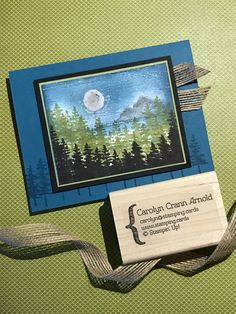 "By Carolyn Crann Arnold. Uses ""Waterfront"" stamp set by Stampin' Up."