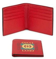64ca50f8ecf8f Gucci Bi-Fold Leather Wallet  ad  GucciWalletsMens