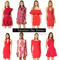 Create your own #romance with the best #ValentinesDay #outfits. We suggest - red #dresses  #fashion #shopping #love