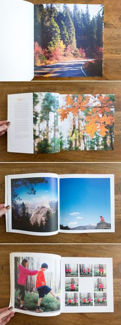 oh how I just love this style - simple, clean, and with some words Yosemite Photo Book   suzanneobrienstudio.com