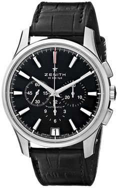 Amazon.com: Zenith Men's 032110400.22C El Primero Analog Display Swiss Automatic Black Watch: Watches