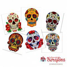Porta copos Caveiras Mexicanas - Bem-vinda Serafina - Utensílios de cozinha