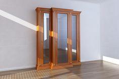 Angol klasszikus könyves szekrény (üveg ajtós)