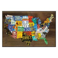 Art.com ''USA Map II'' Wall Art