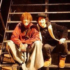 Rurouni Kenshin behind the scene. Takeru Sato as Kenshin Himura & Takahiro Morita ONE OK ROCK's vocalist.