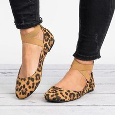 f3b9a8ceb leopard sneakers slip on Women-Ankle-Strap-Ballerina-Ballet-Lady-Pump-Flats -Loafer-Sneaker-Slip-On-Shoes    Check this amazing product by going to the  link ...